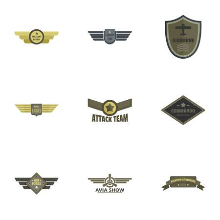 Attack icons set. Flat set of 9 attack icons for web isolated on white background Фото со стока