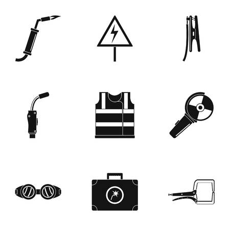 Electrical engineer icons set. Simple set of 9 electrical engineer icons for web isolated on white background