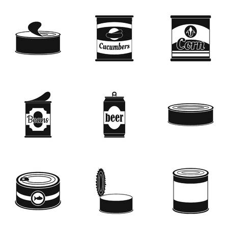 Prepared icons set. Simple set of 9 prepared icons for web isolated on white background Banque d'images