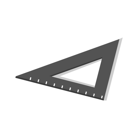 Black angle school ruler icon. Isometric of black angle school ruler icon for web design isolated on white background Stock Photo