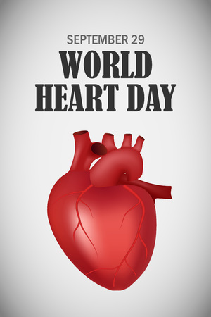 World heart one day concept background. Realistic illustration of world heart one day concept background for web design