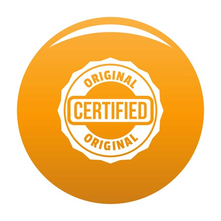 Certified icon. Simple illustration of certified icon