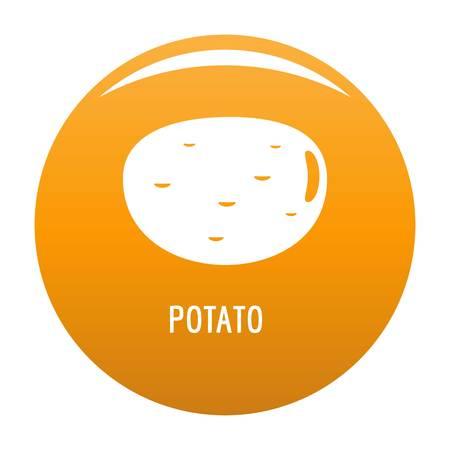 Potato icon. Simple illustration of potato icon for any design orange Stock Photo