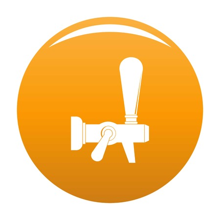 Steel faucet icon. Simple illustration of steel faucet icon for any design orange