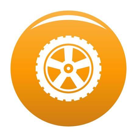 Transport tire icon orange Stock Photo