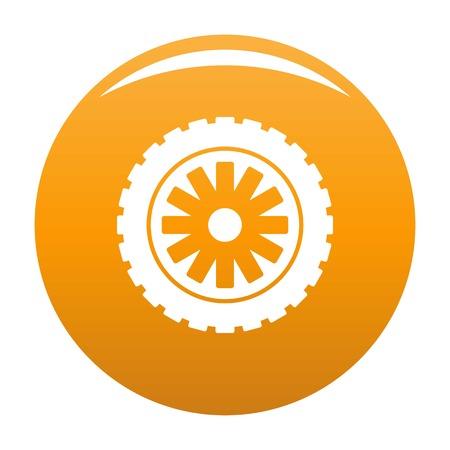 Rubber protector icon orange