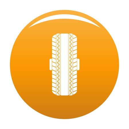 Rubber tyre icon orange