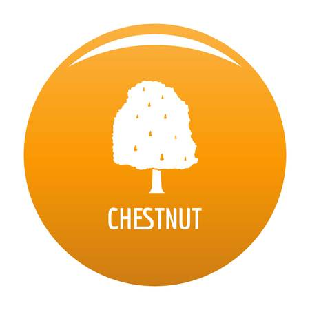 Chestnut tree icon. Simple illustration of chestnut tree icon for any design orange
