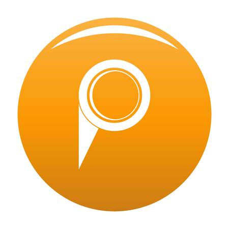 Navigation pin icon. Simple illustration of navigation pin icon for any design orange
