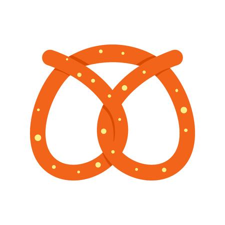Pretzel bakery icon. Flat illustration of pretzel bakery vector icon for web design