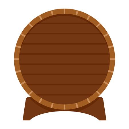 Wood barrel of beer icon. Flat illustration of wood barrel of beer vector icon for web design Vektoros illusztráció