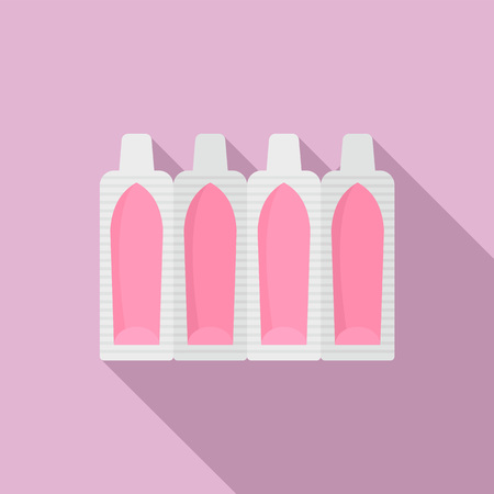 Suppositories icon. Flat illustration of suppositories vector icon for web design Çizim