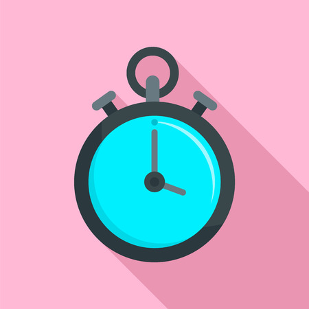 Contraceptive stopwatch icon. Flat illustration of contraceptive stopwatch vector icon for web design
