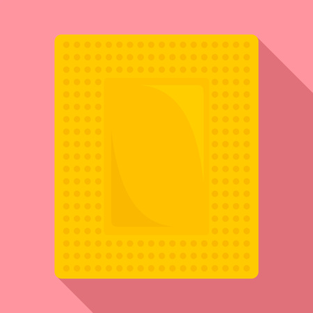 Contraceptive patch icon. Flat illustration of contraceptive patch vector icon for web design