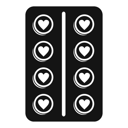 Contraception pill icon. Simple illustration of contraception pill vector icon for web design isolated on white background Vectores