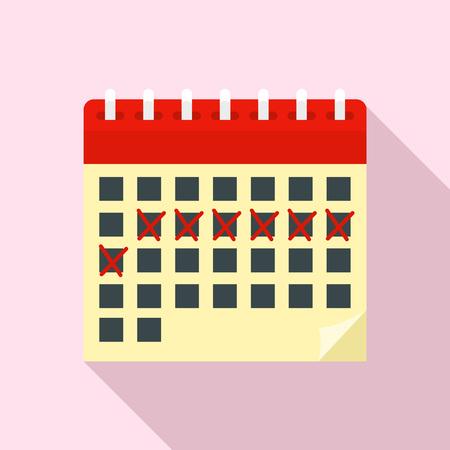 Contraceptive calendar icon. Flat illustration of contraceptive calendar vector icon for web design