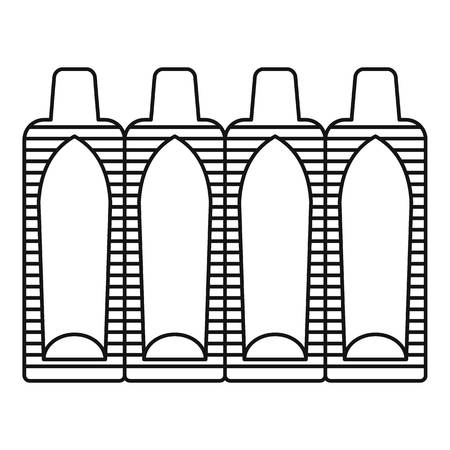 Suppositories icon. Outline illustration of suppositories vector icon for web design isolated on white background Illustration