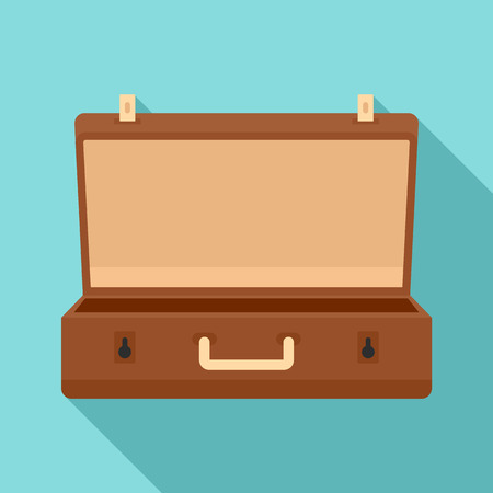 Travel case icon. Flat illustration of travel case vector icon for web design