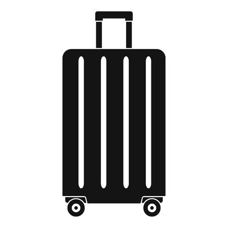 Icono de bolsa de ruedas de viaje. Ilustración simple de icono de vector de bolsa de ruedas de viaje para diseño web aislado sobre fondo blanco Foto de archivo - 107373284