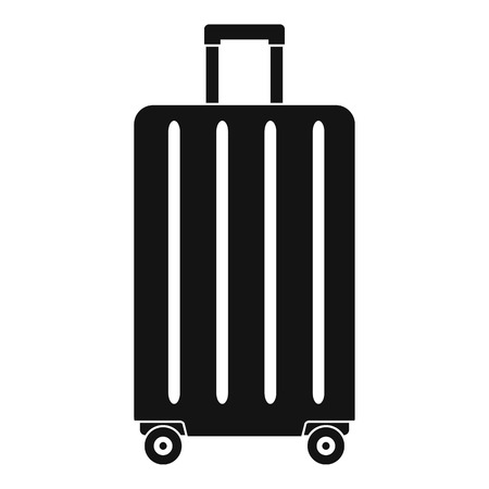 Travel wheels bag icon. Simple illustration of travel wheels bag vector icon for web design isolated on white background Çizim