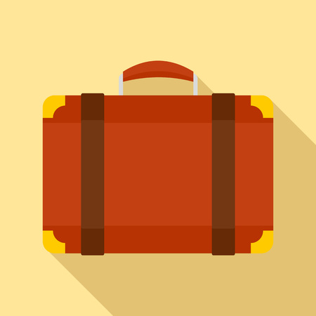 Luggage bag icon. Flat illustration of luggage bag vector icon for web design