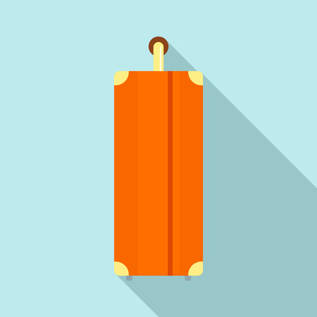 Side of travel bag icon. Flat illustration of side of travel bag vector icon for web design Vettoriali