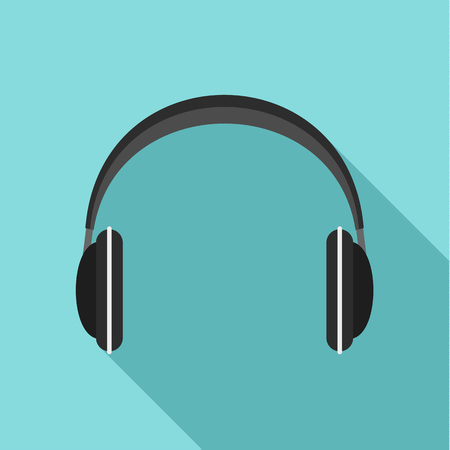 Wireless headphones icon. Flat illustration of wireless headphones vector icon for web design