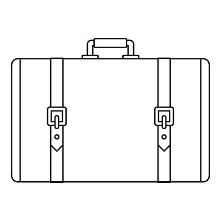Retro suitcase icon. Outline illustration of retro suitcase vector icon for web design isolated on white background Vectores