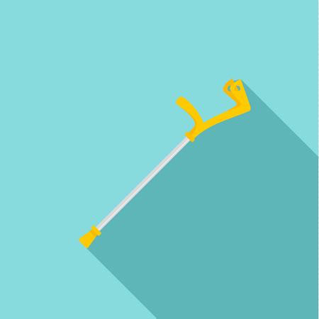 Elbow crutch icon. Flat illustration of elbow crutch vector icon for web design