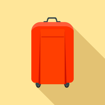 Travel bag icon. Flat illustration of travel bag vector icon for web design