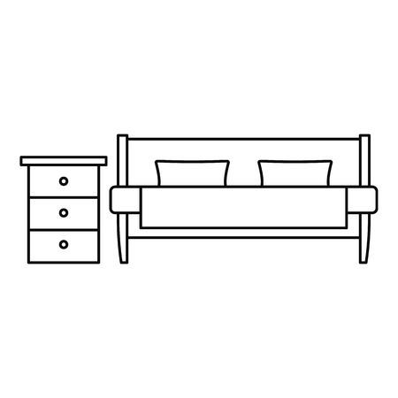 Modern sofa icon. Outline illustration of modern sofa vector icon for web design isolated on white background Illustration