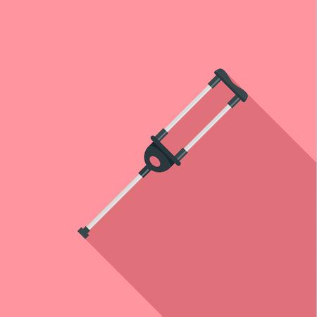 Medical crutch icon. Flat illustration of medical crutch vector icon for web design