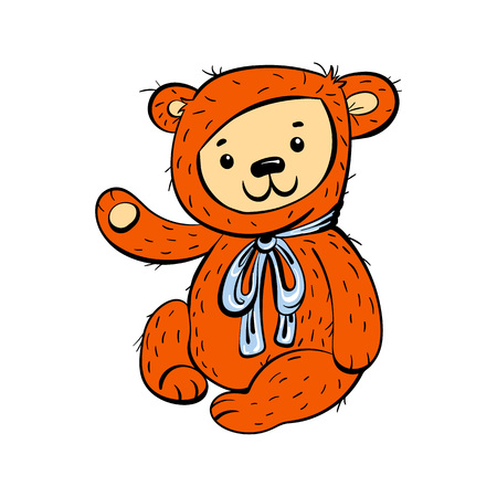 Bear toy icon. Cartoon of bear toy vector icon for web design isolated on white background