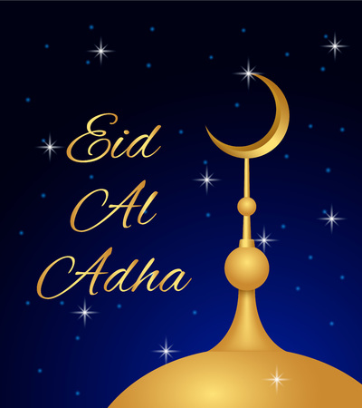 Islam eid al adha concept background, realistic style Ilustrace