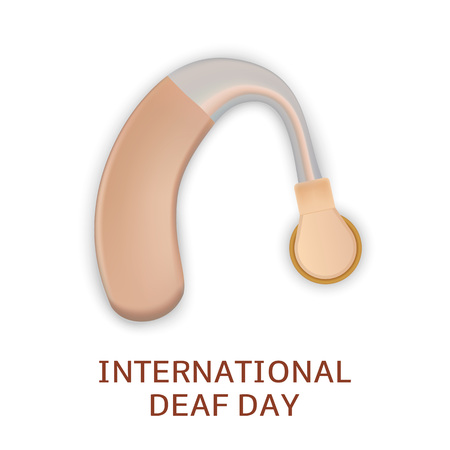 Global deaf day concept background. Realistic illustration of global deaf day vector concept background for web design