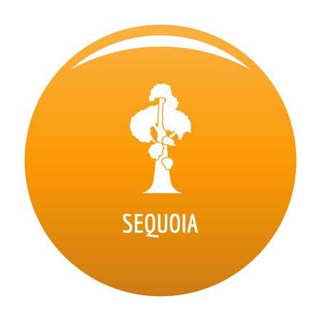 Sequoia icon vector orange Illustration