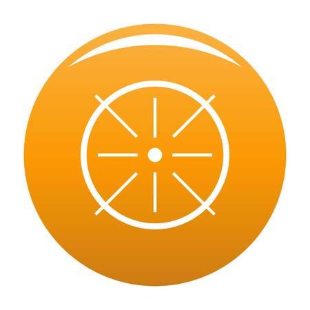 Center icon vector orange