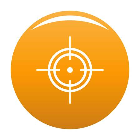 Aim icon vector orange