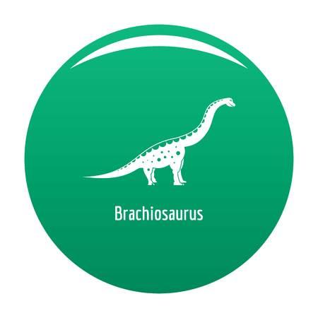 Brachiosaurus icon vector green