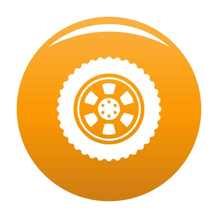 One tire icon orange Stock Photo