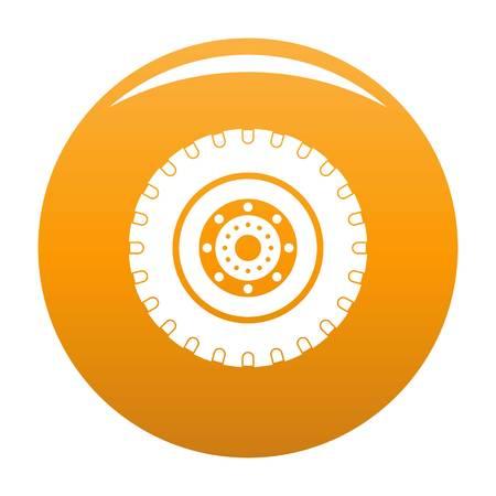 Tyre icon orange