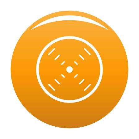 Interface radar icon orange