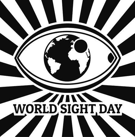World sight day concept background. Simple illustration of world sight day vector concept background for web design isolated on white background Illustration