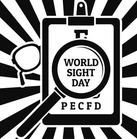 Sight day concept background. Simple illustration of sight day vector concept background for web design isolated on white background Ilustração Vetorial