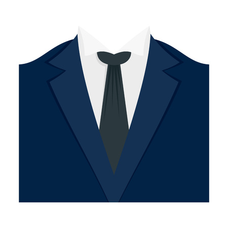 Dinner jacket icon. Flat illustration of dinner jacket vector icon for web design