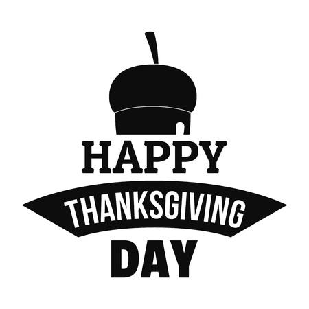 Nut thanksgiving logo. Simple illustration of nut thanksgiving vector logo for web design isolated on white background
