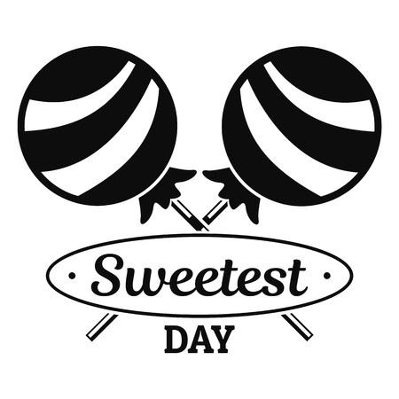 Lollipop sweet logo. Simple illustration of lollipop sweet vector logo for web design isolated on white background Vettoriali
