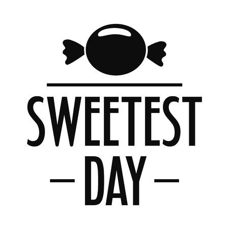 Bonbon candy sweet logo. Simple illustration of bonbon candy sweet vector logo for web design isolated on white background