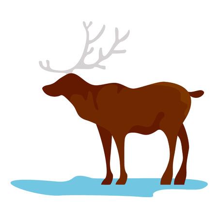 Alaska deer icon. Flat illustration of alaska deer vector icon for web design