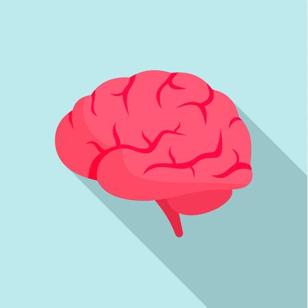 Brain power icon. Flat illustration of brain power vector icon for web design
